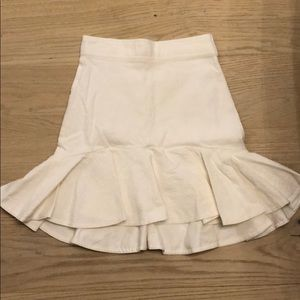 ivy high low flared skirt